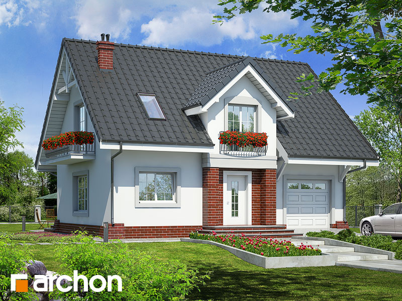 Проект дома ARCHON+ Дом в люцерне Вид 1