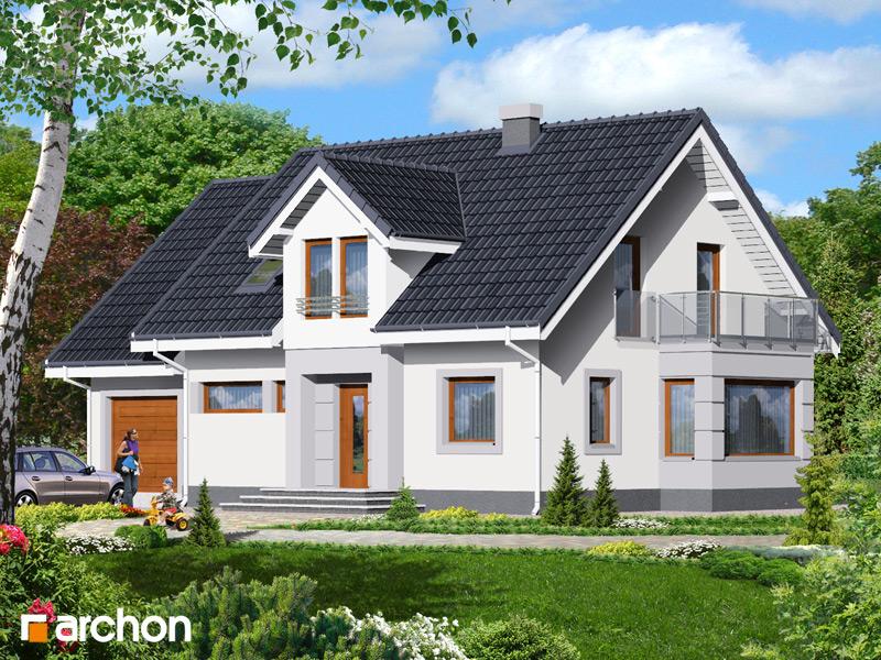 Проект будинку ARCHON+ Будинок в сезамі стилізація 3