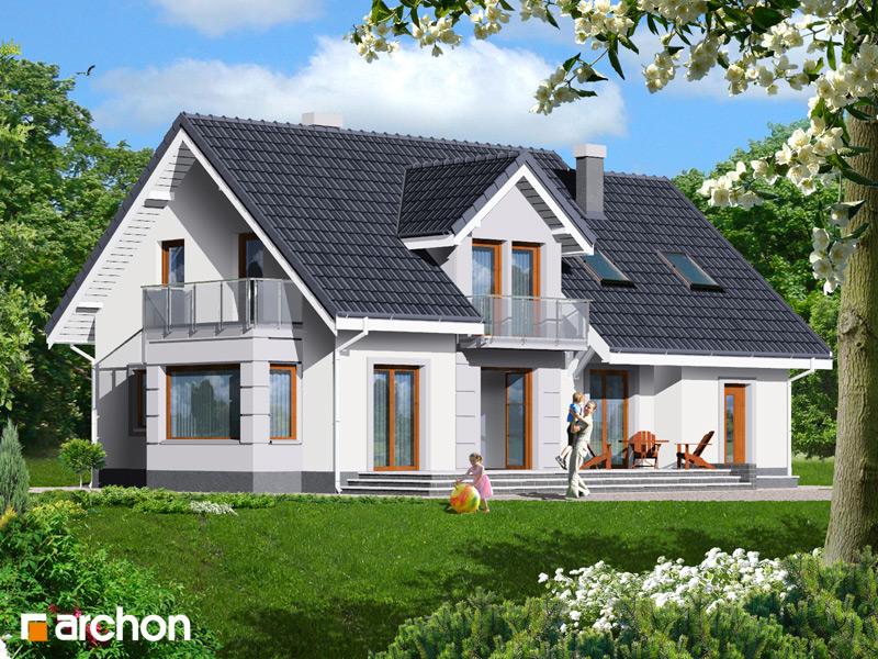 Проект будинку ARCHON+ Будинок в сезамі стилізація 4