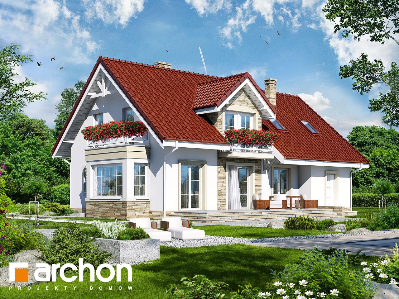 Проект будинку ARCHON+ Будинок в сезамі Вид 2