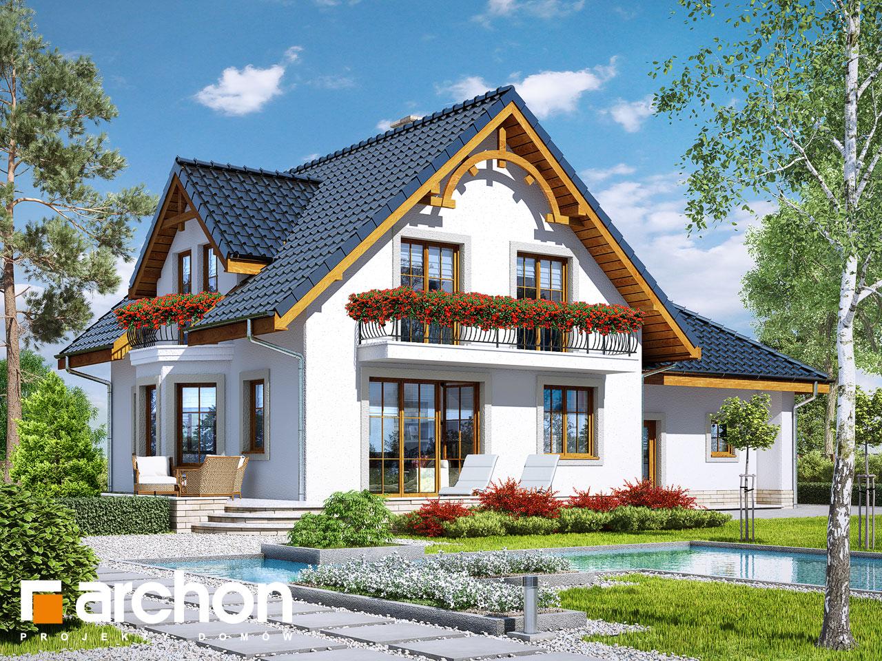 Проект будинку ARCHON+ Будинок в тамариску 2 (Г2) Вид 2