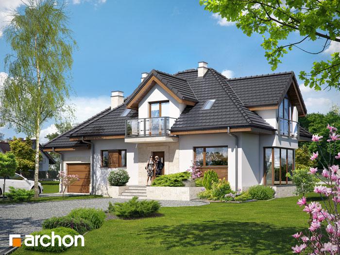 Проект будинку ARCHON+ Будинок у вербені (П) стилізація 3