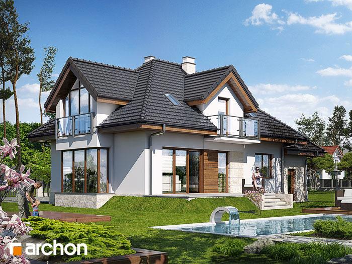 Проект будинку ARCHON+ Будинок у вербені (П) стилізація 4