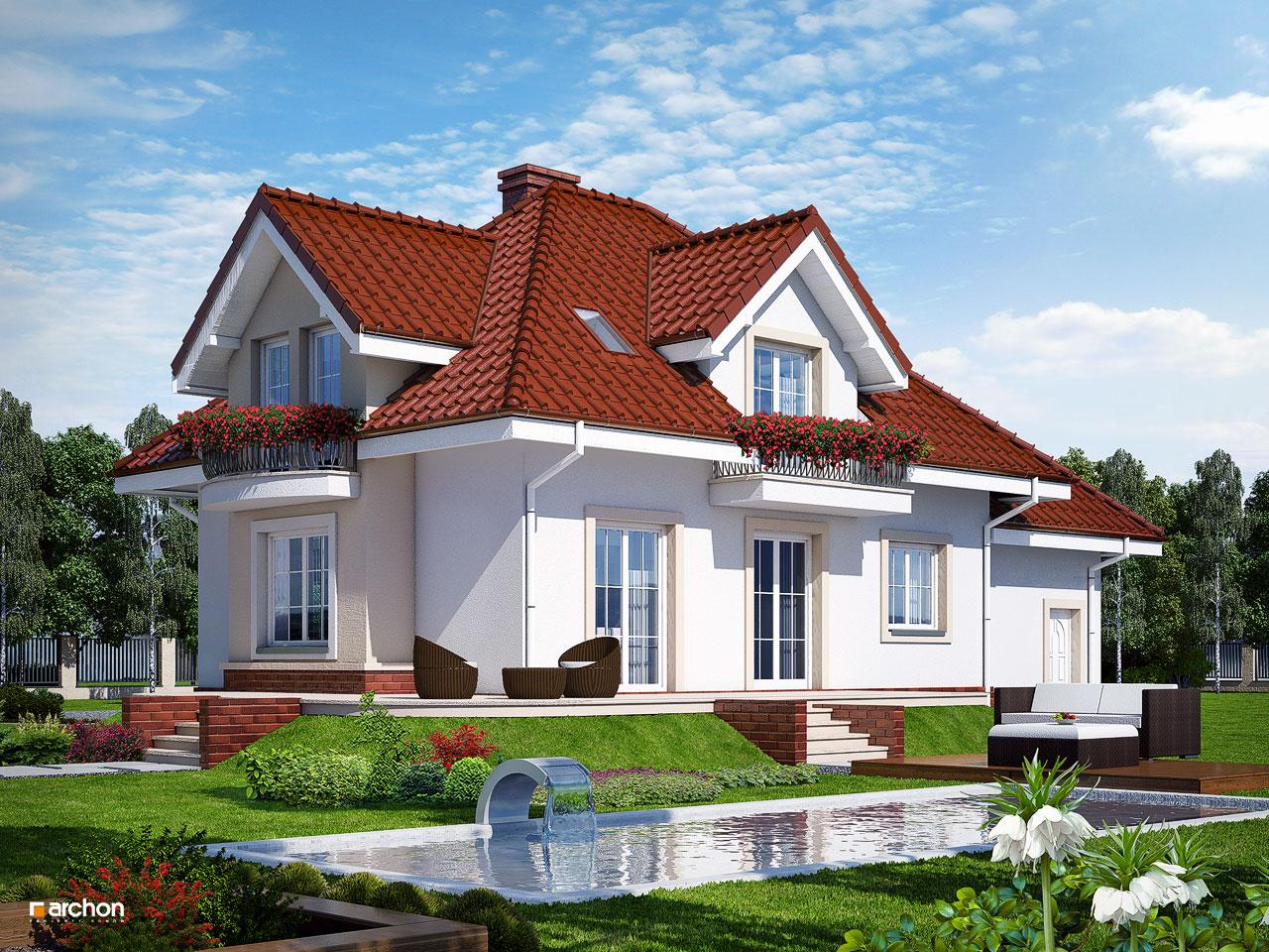 Проект будинку ARCHON+ Будинок у вербені (П) Вид 2