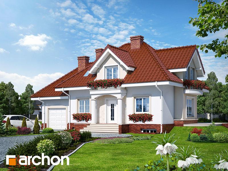 Проект будинку ARCHON+ Будинок у вербені (П) Вид 1