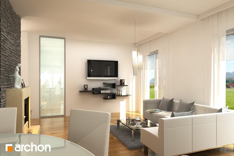 Проект будинку ARCHON+ Будинок у вербені (П) денна зона (візуалізація 1 від 1)
