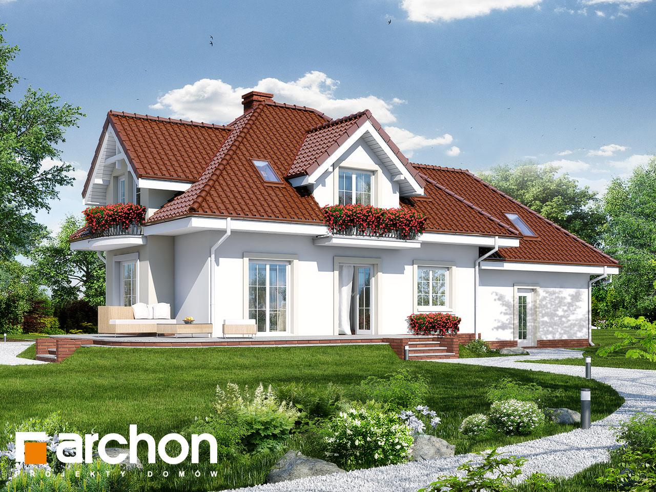 Проект будинку ARCHON+ Будинок у вербені (Г2) Вид 2