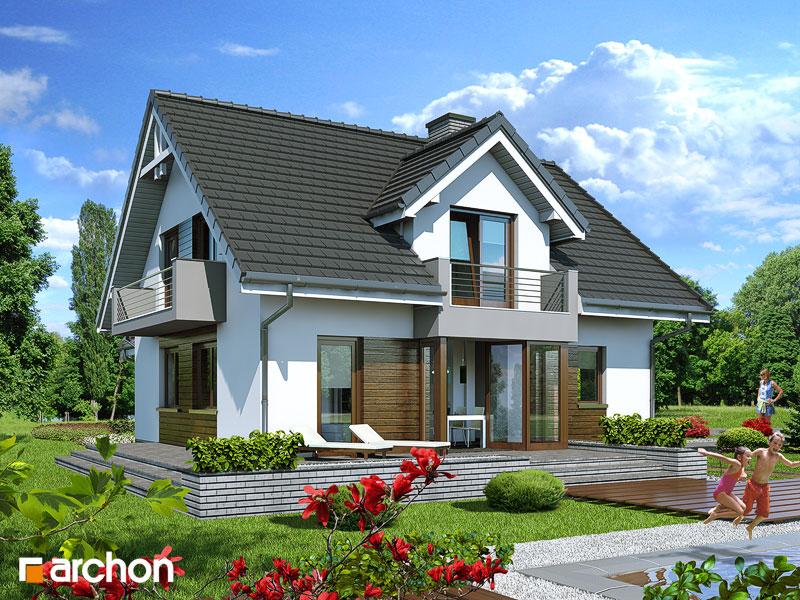 Проект будинку ARCHON+ Будинок в рододендронах 5 (П) стилізація 3