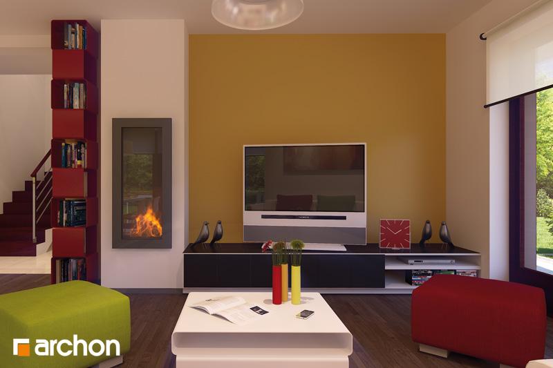Проект будинку ARCHON+ Будинок в тамариску 2 (П) денна зона (візуалізація 2 від 1)