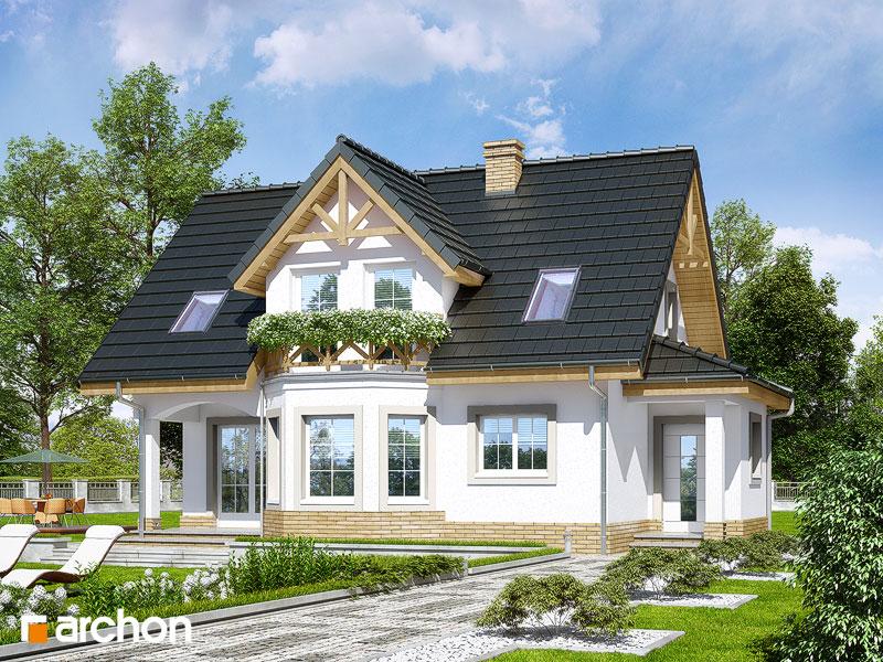 Проект будинку ARCHON+ Будинок в журавлині (П) стилізація 1
