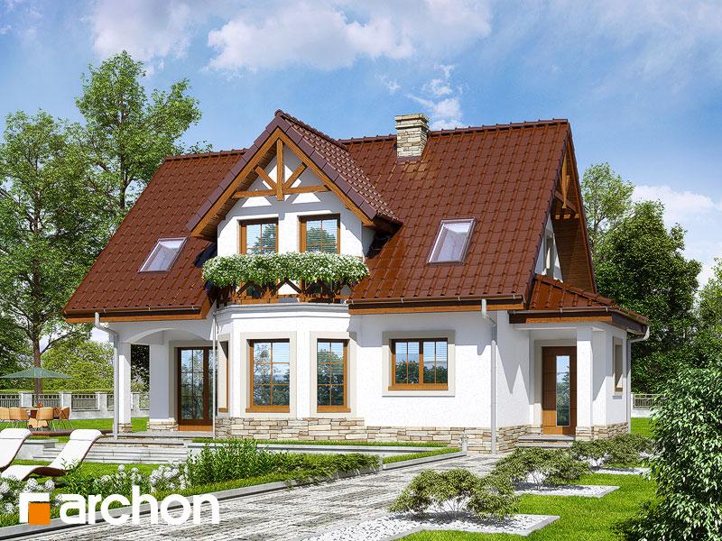Проект будинку ARCHON+ Будинок в журавлині (П) Вид 1