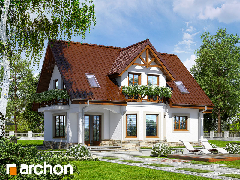 Проект будинку ARCHON+ Будинок в журавлині (П) Вид 2