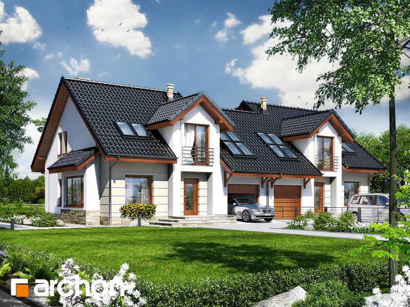 Проект будинку ARCHON+ Будинок в ревені (Б) Вид 1