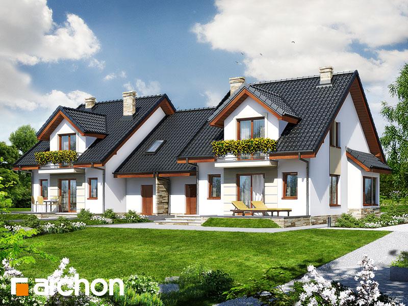 Проект будинку ARCHON+ Будинок в ревені (Б) Вид 2