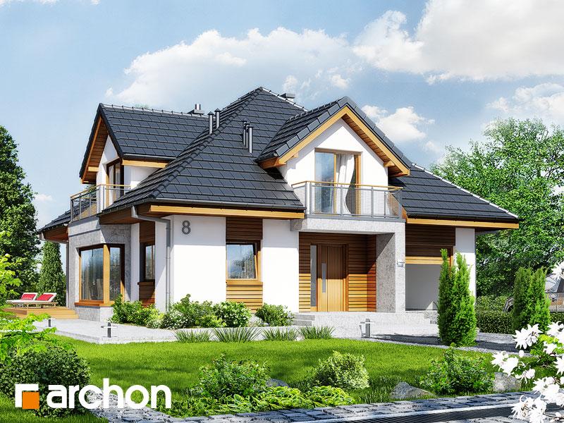 Проект будинку ARCHON+ Будинок в тим'яні 3 стилізація 3