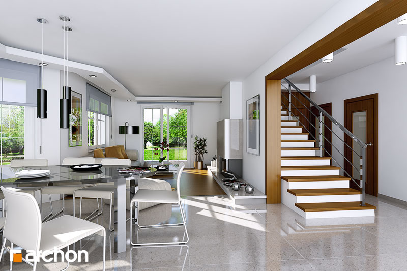 Проект будинку ARCHON+ Будинок в тим'яні 3 денна зона (візуалізація 1 від 1)