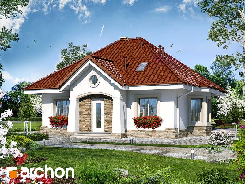 Проект будинку ARCHON+ Будинок в лотосах (М) Вид 1