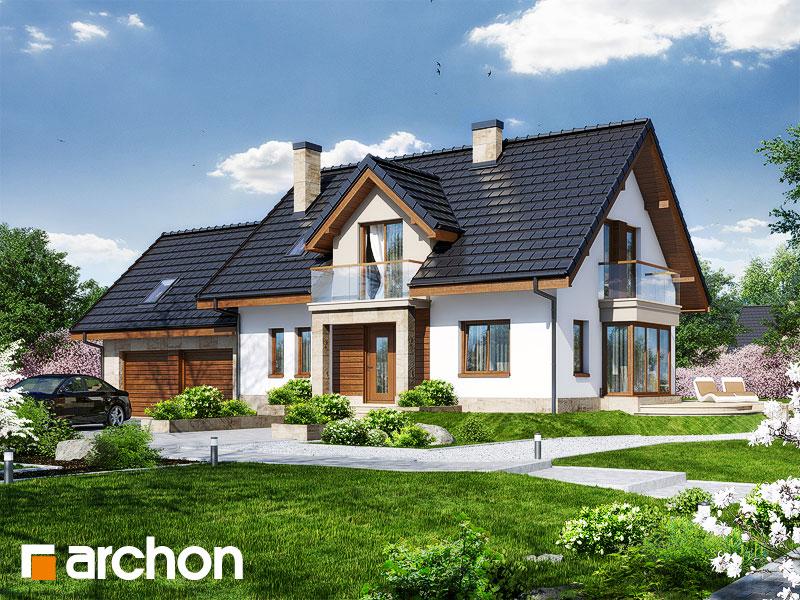 Проект будинку ARCHON+ Будинок у вербені 2 (Г2) стилізація 3