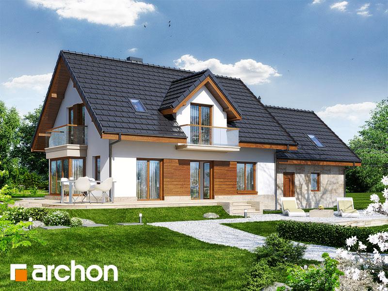 Проект будинку ARCHON+ Будинок у вербені 2 (Г2) стилізація 4