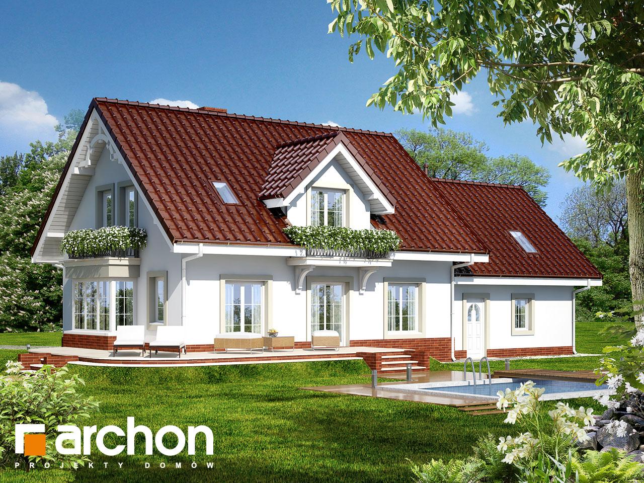 Проект будинку ARCHON+ Будинок у вербені 2 (Г2) Вид 2
