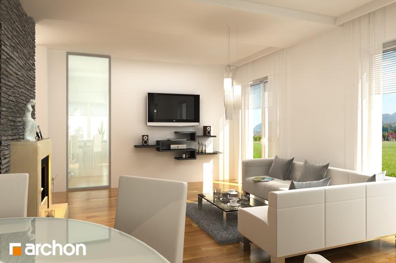 Проект будинку ARCHON+ Будинок у вербені 2 (Г2) денна зона (візуалізація 1 від 2)