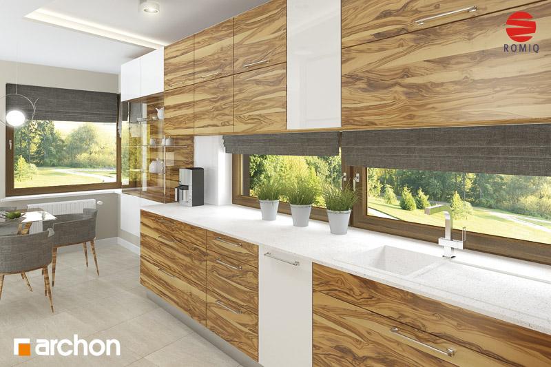 Проект будинку ARCHON+ Будинок в амарилісах аранжування кухні 1 від 2
