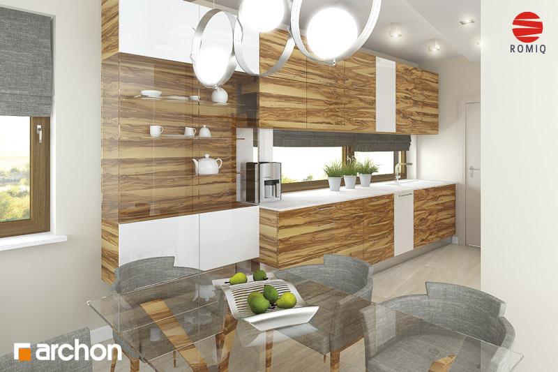 Проект дома ARCHON+ Дом в амариллисах аранжировка кухни 1 вид 1