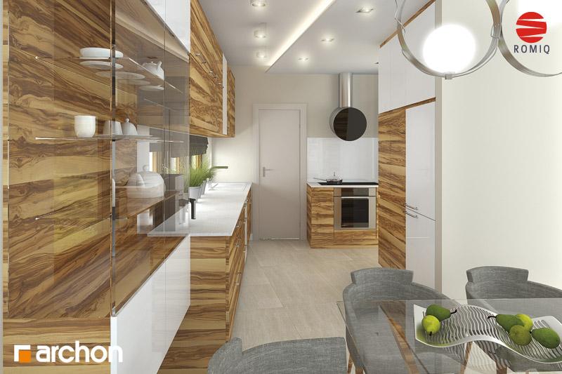 Проект дома ARCHON+ Дом в амариллисах аранжировка кухни 1 вид 3