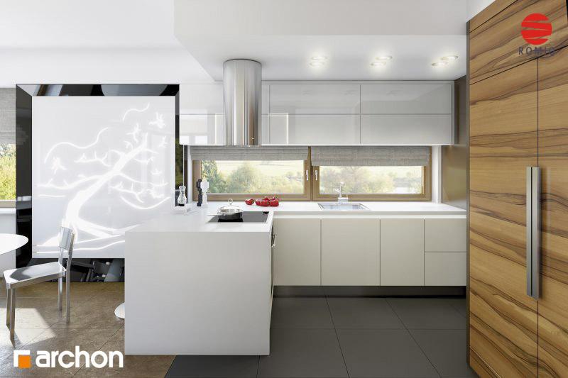Проект будинку ARCHON+ Будинок в амарилісах аранжування кухні 2 від 2