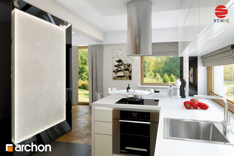 Проект будинку ARCHON+ Будинок в амарилісах аранжування кухні 2 від 3