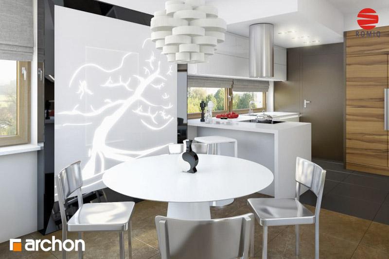 Проект дома ARCHON+ Дом в амариллисах аранжировка кухни 2 вид 1