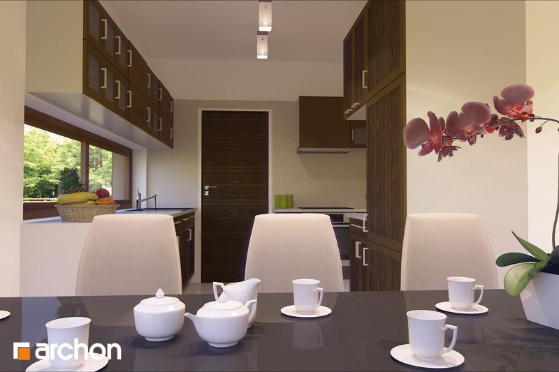 Проект дома ARCHON+ Дом в амариллисах визуализация кухни 1 вид 1