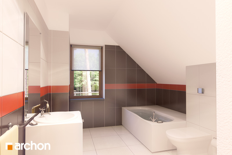 Проект будинку ARCHON+ Будинок в амарилісах візуалізація ванни (візуалізація 3 від 1)