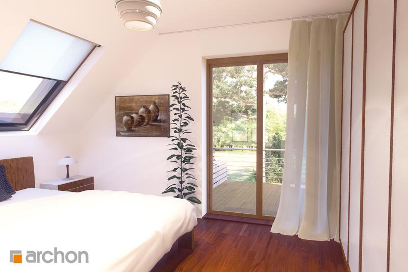 Проект будинку ARCHON+ Будинок в амарилісах нічна зона (візуалізація 1 від 2)