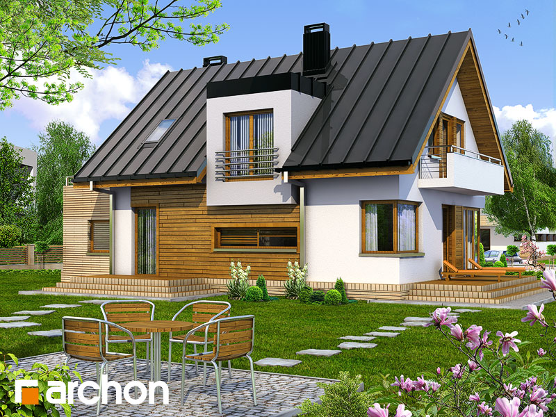 Проект будинку ARCHON+ Будинок в амарилісах Вид 2