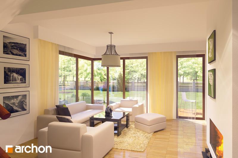 Проект дома ARCHON+ Дом в амариллисах дневная зона (визуализация 2 вид 1)