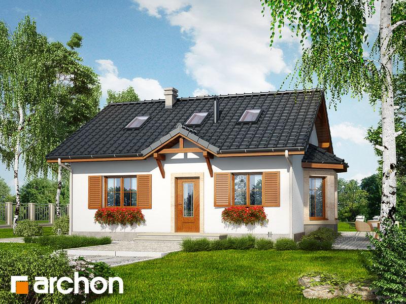 Проект будинку ARCHON+ Будинок в ягодах (М) Вид 1