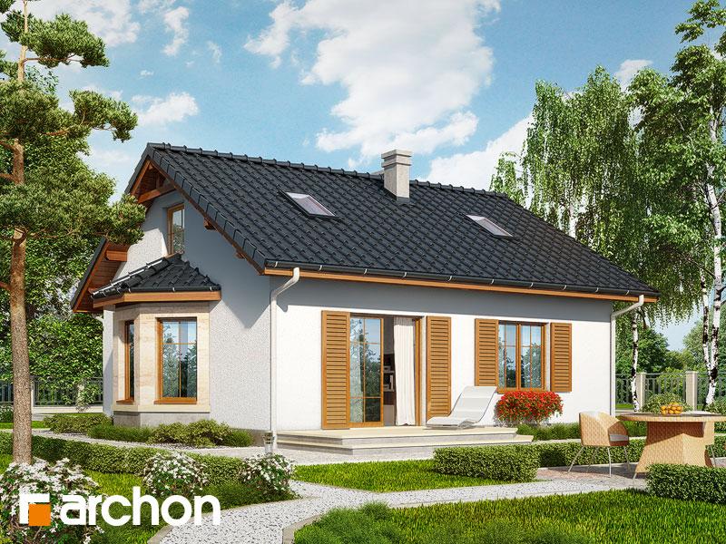 Проект будинку ARCHON+ Будинок в ягодах (М) Вид 2