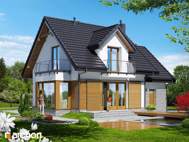 Проект будинку ARCHON+ Будинок у винограді 4 стилізація 4