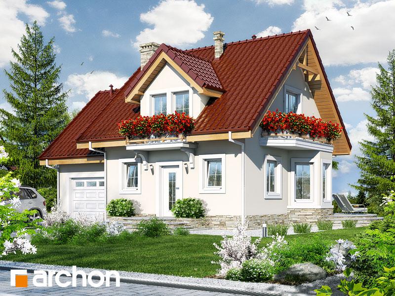 Проект будинку ARCHON+ Будинок у винограді 4 Вид 1