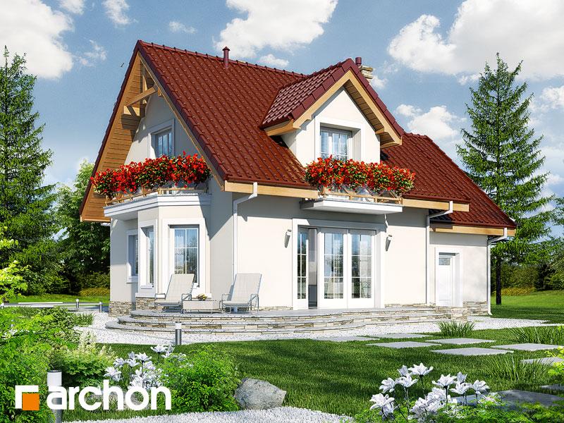 Проект будинку ARCHON+ Будинок у винограді 4 Вид 2