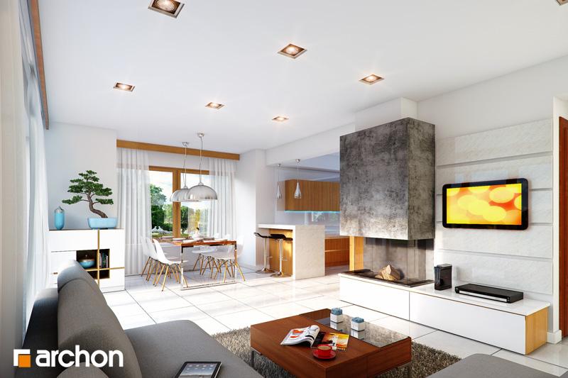 Проект будинку ARCHON+ Будинок у вересі денна зона (візуалізація 1 від 1)
