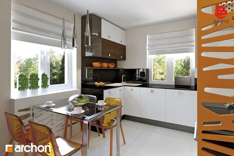 Проект будинку ARCHON+ Будинок під туями аранжування кухні 1 від 1