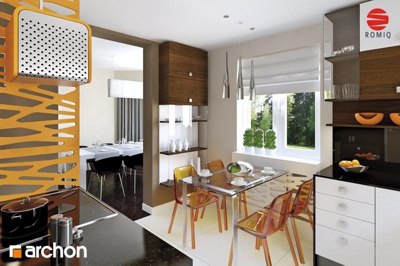 Проект будинку ARCHON+ Будинок під туями аранжування кухні 1 від 2