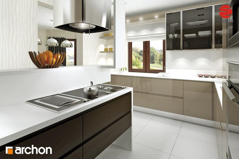 Проект будинку ARCHON+ Будинок під туями аранжування кухні 2 від 1