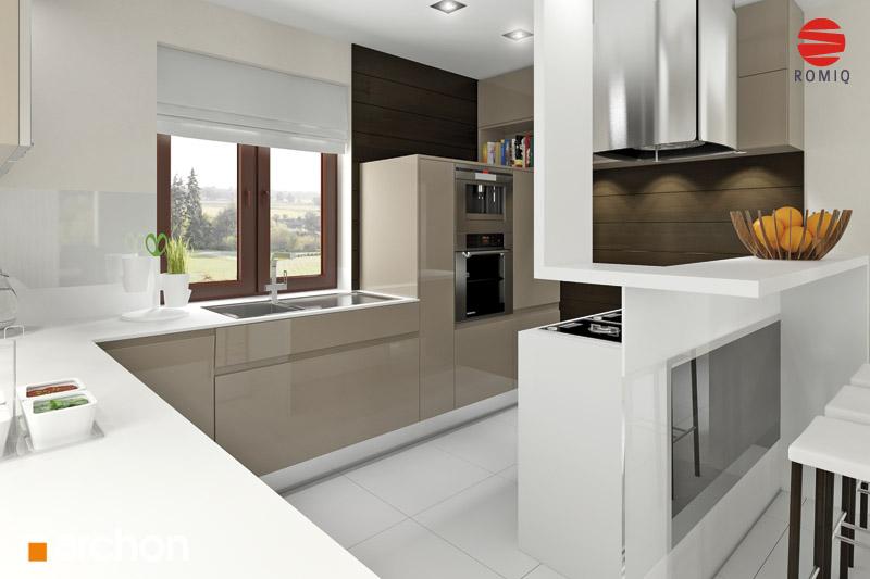 Проект будинку ARCHON+ Будинок під туями аранжування кухні 2 від 2