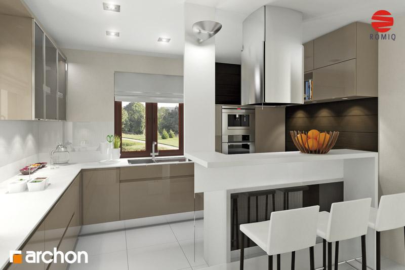 Проект будинку ARCHON+ Будинок під туями аранжування кухні 2 від 3