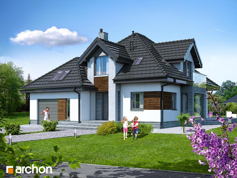 Проект будинку ARCHON+ Будинок під туями стилізація 3