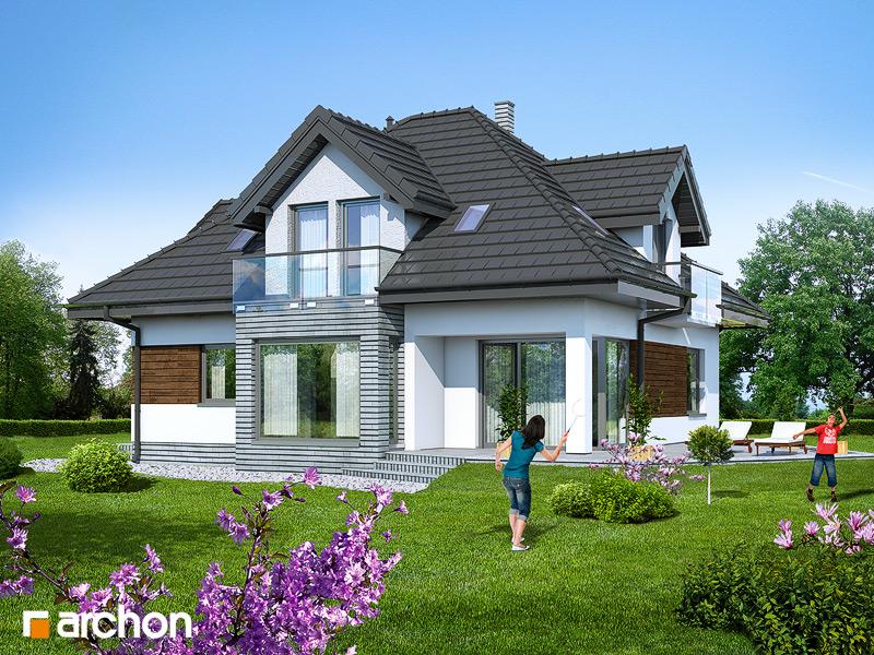 Проект будинку ARCHON+ Будинок під туями стилізація 4