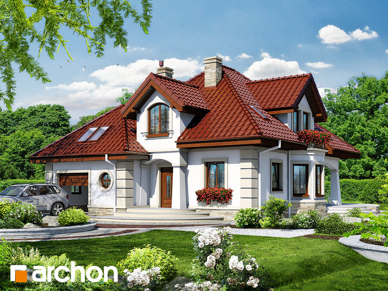 Проект будинку ARCHON+ Будинок під туями Вид 1